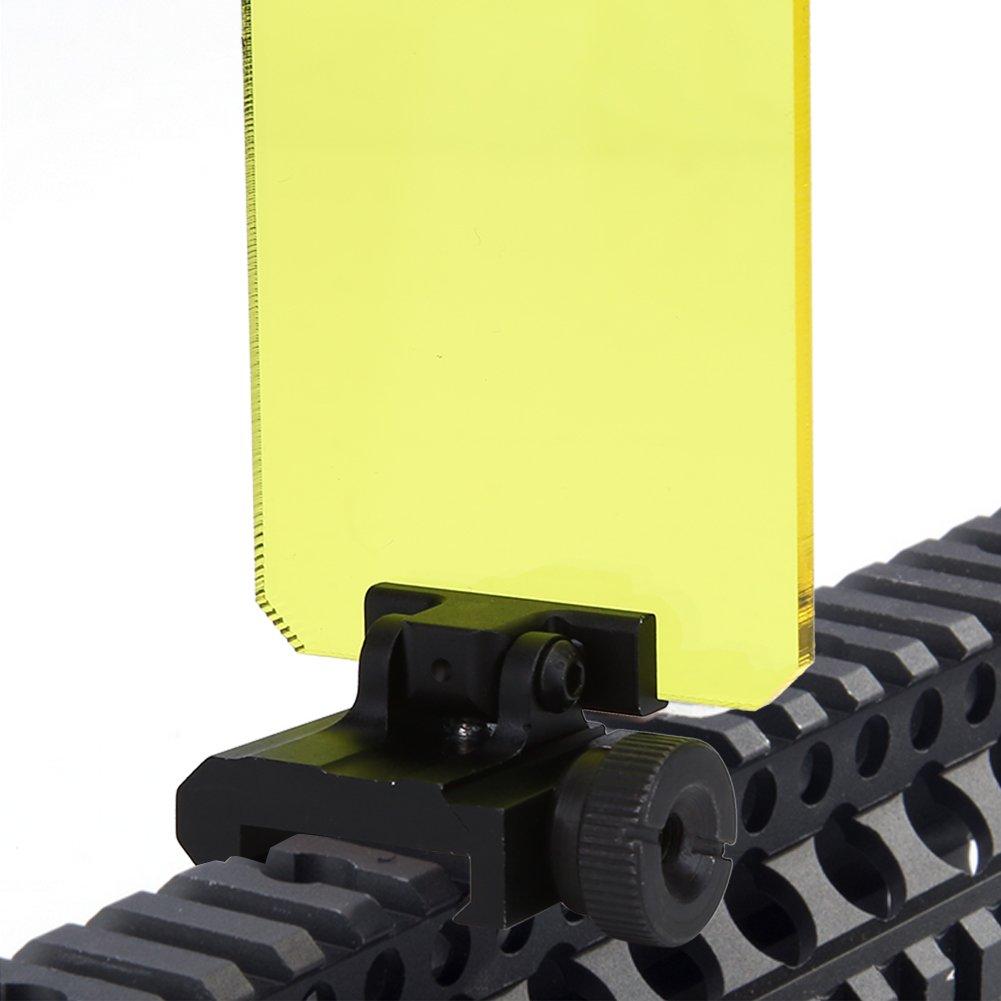 7 Tbest Tactical Scope Lens Protector 5 cm Vue Scope Lentille Red Dot Sight Lentille Couverture de l/écran Bouclier Tactical Scope Lens Protector pour Airsoft Chasse Tir Protecteur d/écran