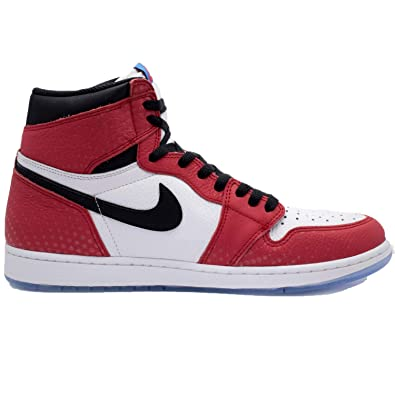check out dc169 f6033 Air Jordan 1 Retro High OG Spiderman 555088 602 Red Black White (8.5