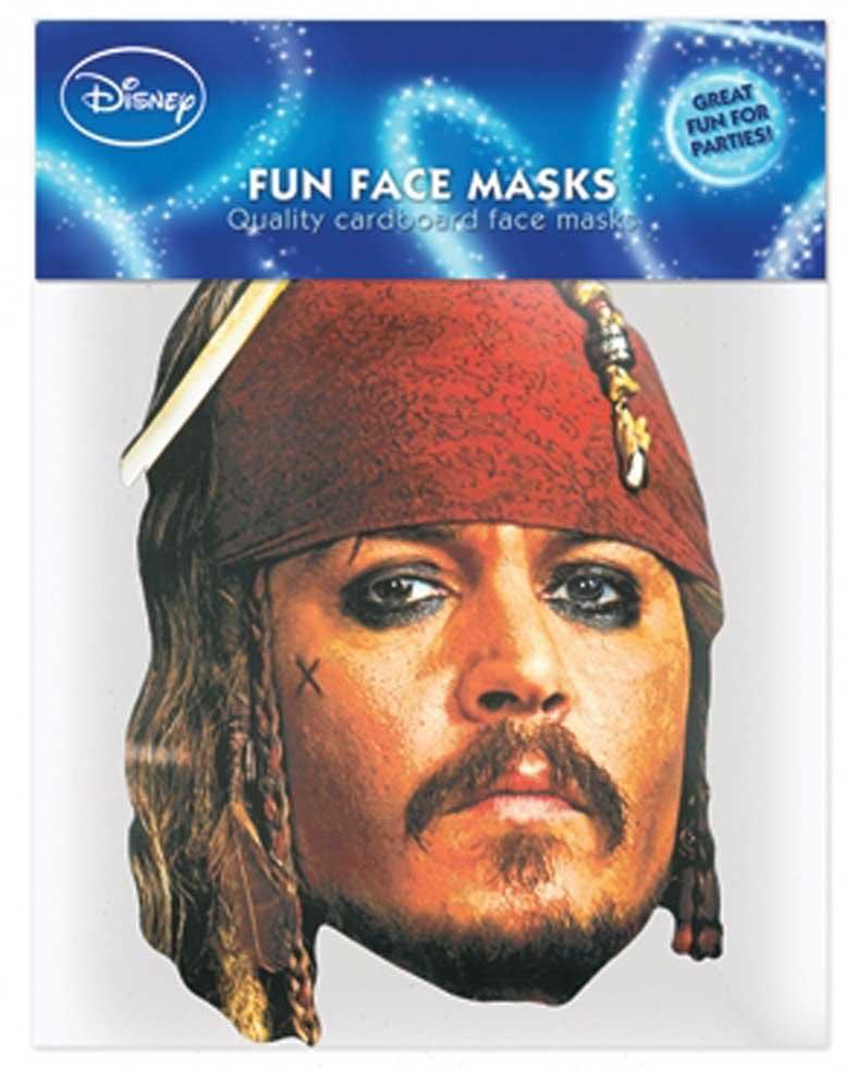 Fluch der Karibik Captain Sparrow Papp Maske, aus hochwertigem Glanzkarton mit Augenlöchern, Gummiband - Grösse ca. 30x20 cm empireposter