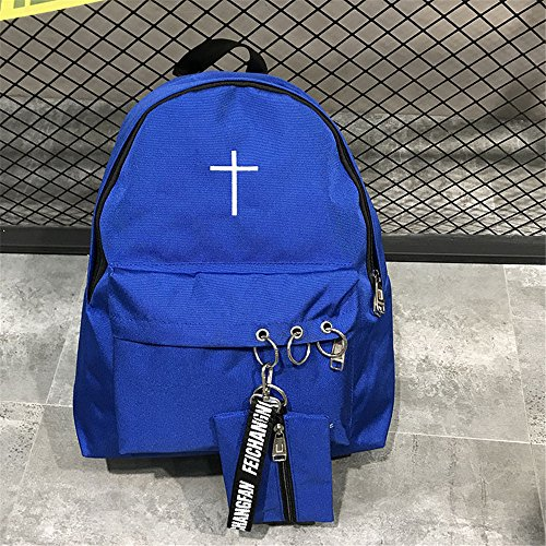 bolsas WJIANLL lienzo Campus de hembra personalizado hombro Blue volver negra school high doble bolsas vwvXqrp