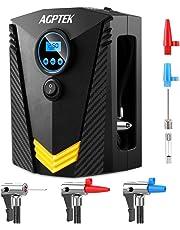 AGPTEK Compresor de Aire Portátil Inflador Eléctrico Bomba de Aire 12V con Pantalla Digital LCD y