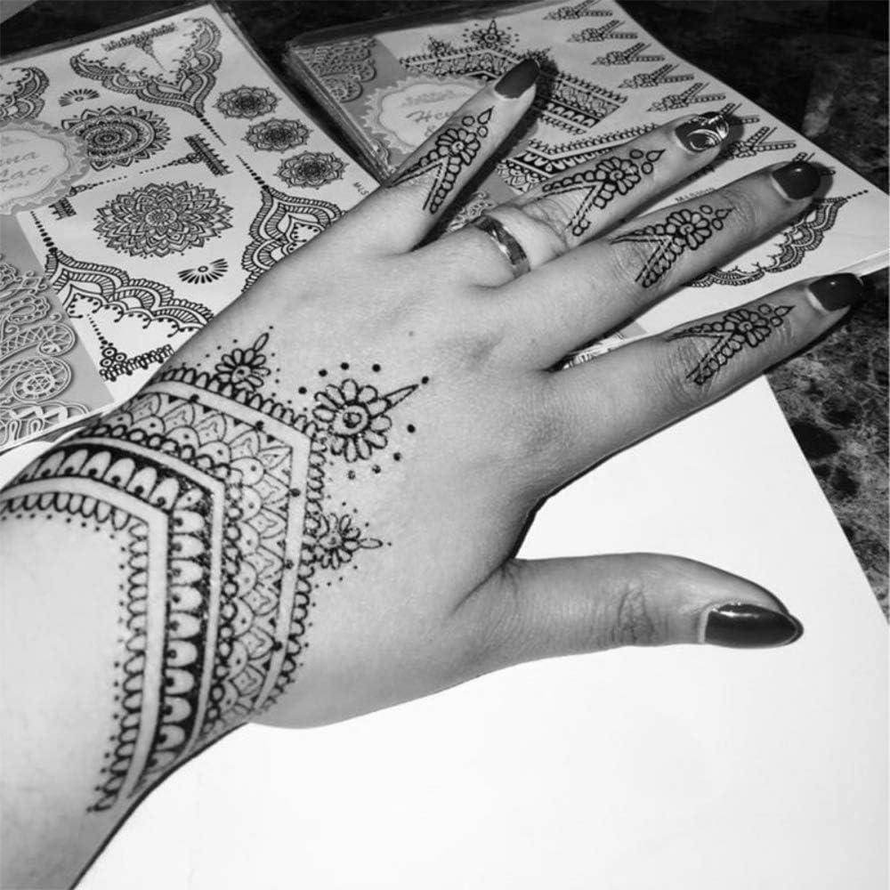 Tatuajes temporales de mandalas para hombre y mujer, con tatuaje ...