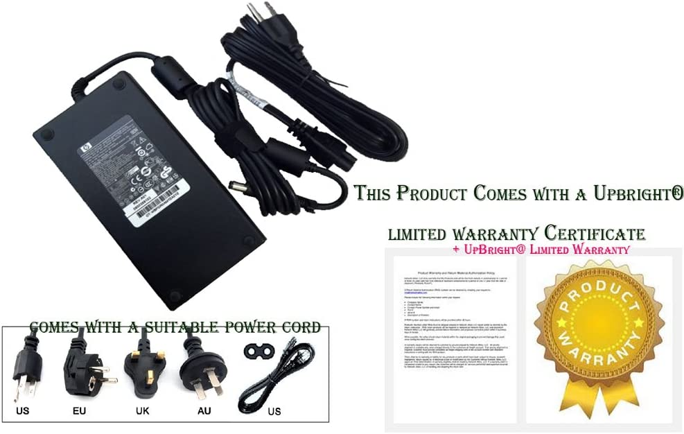 180W 19V 9.5A Smart AC Adapter: for HP EliteBook 8530p Notebook PC,HP EliteBook 8540p Notebook PC,for HP EliteBook 8540w, 8560w,100% Compatible