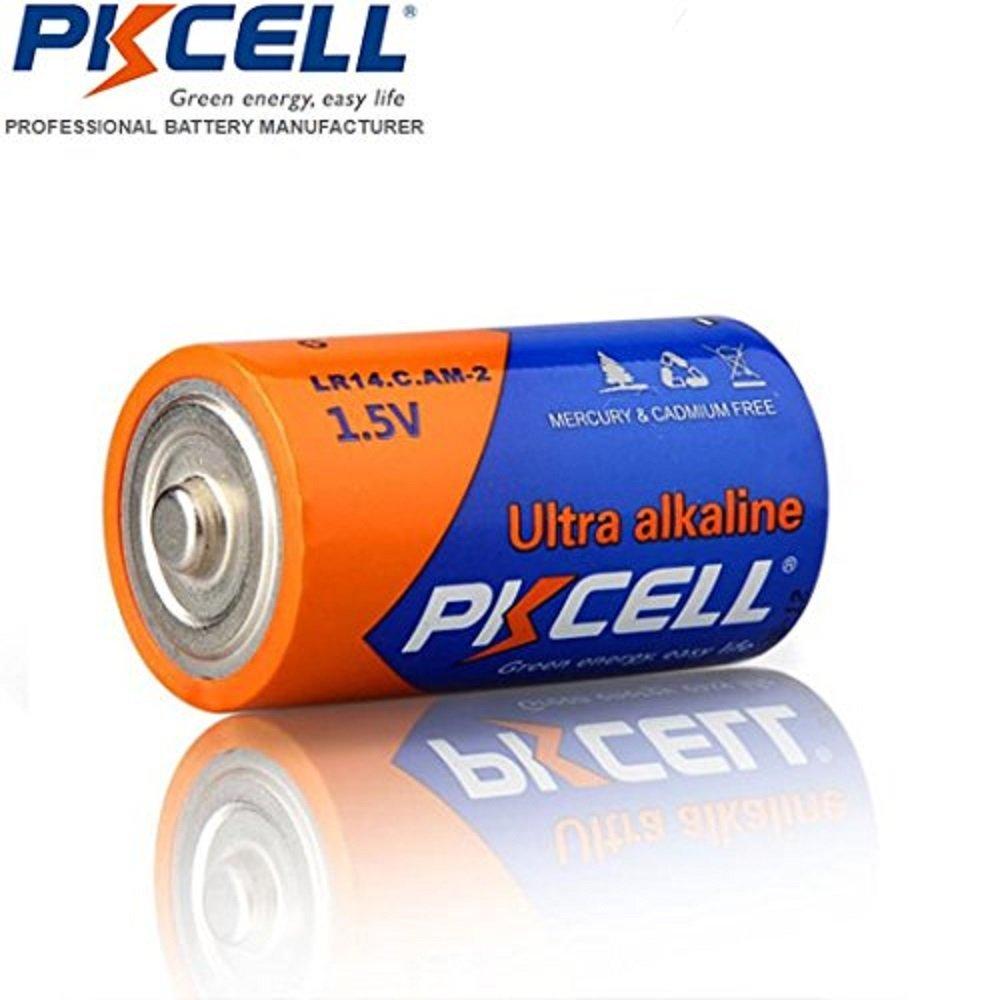 PKCELL 1.5V LR14 C Cell Alkaline Batteries 6 Pack 6PCS-LR14