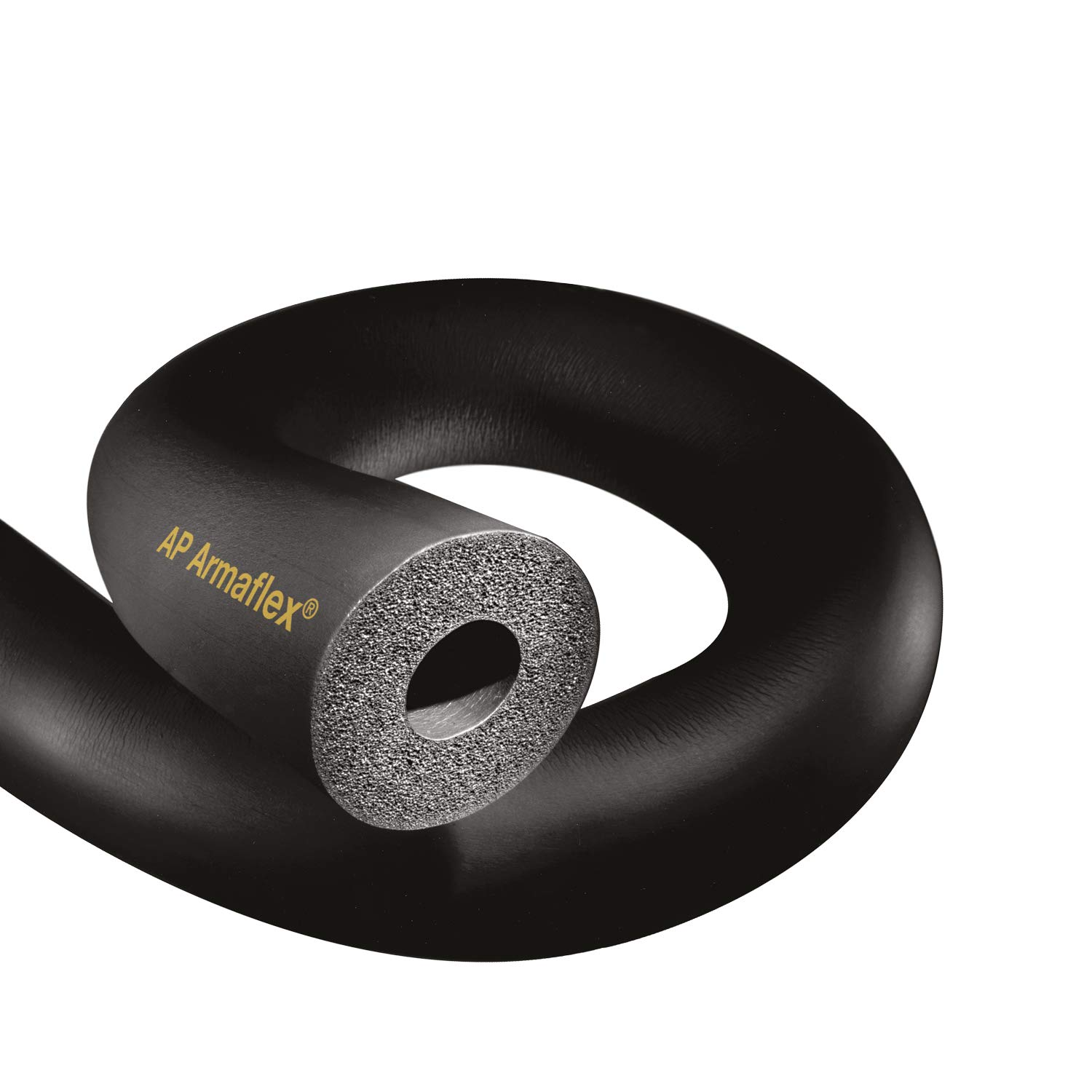 3-5/8'' x 1/2'' Rubber Pipe Insulation - 36 Lineal Feet/Carton