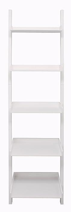 kieragrace Hadfield 5-Tier Leaning Wall Shelf - 18 by 67-Inch, White