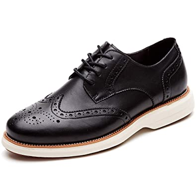 5465bda63959 LAOKS Mens Oxford Shoes Wingtip Genuine Leather Lace up Dress Shoes