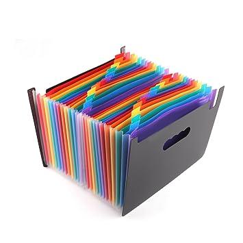 Carpetas Archivadoras Tipo Acordeon, Frontoppy 24 Bolsillos Portátil Clasificadores Carpetas de Acordeón,Ampliable Carpeta para documentos A4,Para Office ...