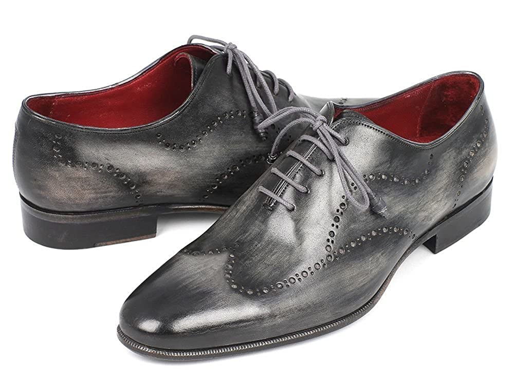 439523d8dba74 Paul Parkman Wintip Oxfords Gray Black Handpainted Calfskin