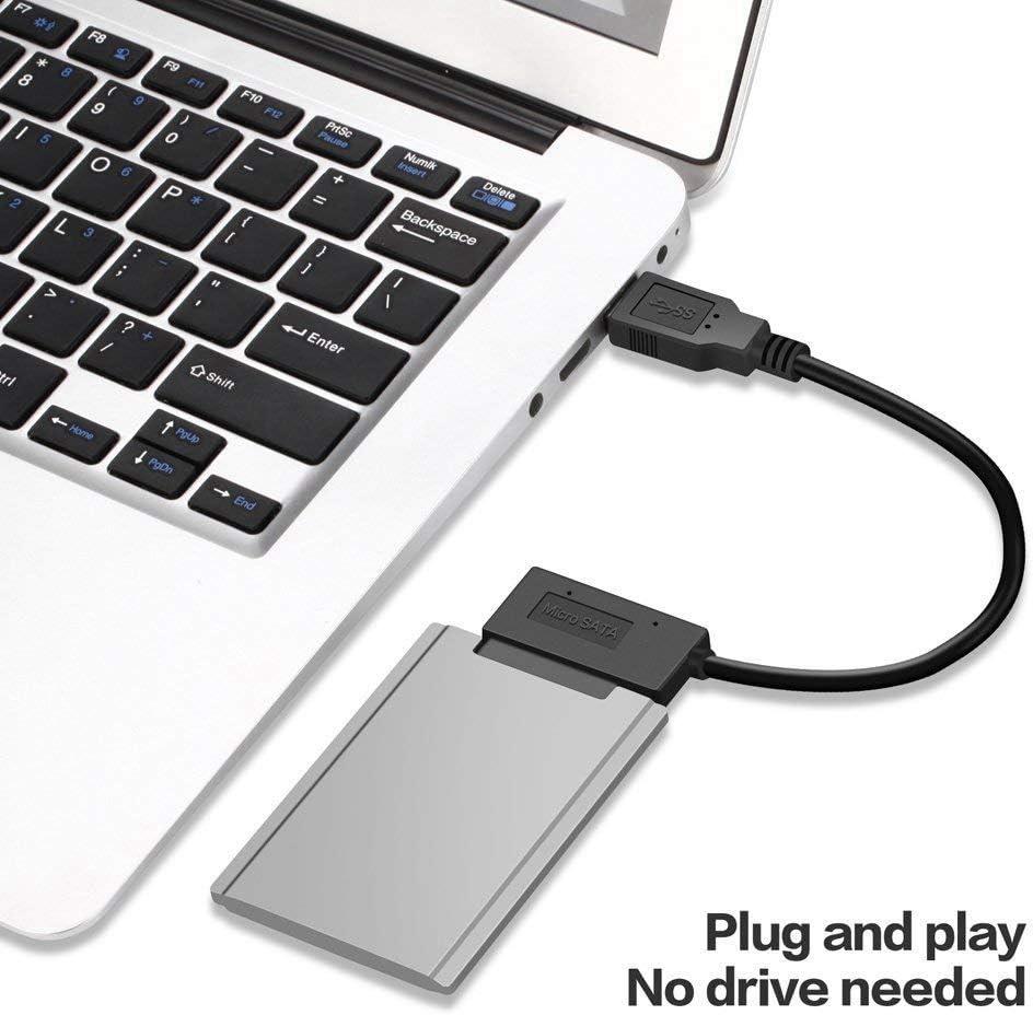 Facibom USB 3.0 to Micro-SATA Cable for 1.8inch HDD SSD Converter Cord USB3.0 to 16Pin Msata 7+9 Pin
