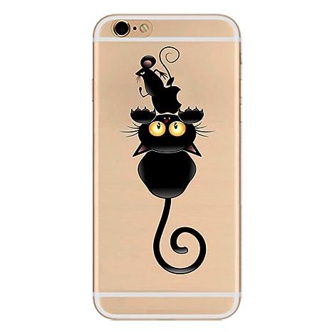 ZQ-Link Elegante Funda Apple iPhone 6,iPhone 6S TPU Gel de Silicona irrompible Resistente - Gatos y Ratón
