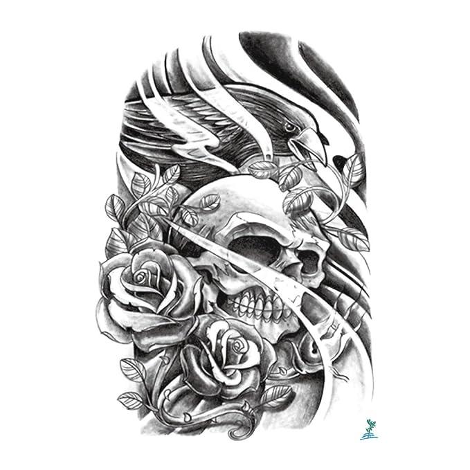 yeeech temporal tatuaje Pegatina de calavera de alimentación serie ...