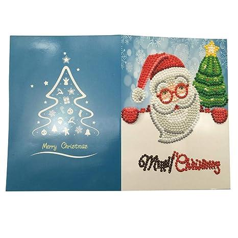 Regali Di Natale Per I Genitori Fai Da Te.Niulyled Diy 5d Pittura Diamante Cartolina Di Natale Fai Da Te