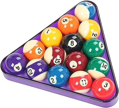 WXS 3 Colores plástico 2 1/4 Pulgadas (57.2 mm) 15 Bolas Billar Triángulo American Spots & Stripes Bolas de Piscina y triángulo (Color : Purple): Amazon.es: Deportes y aire libre