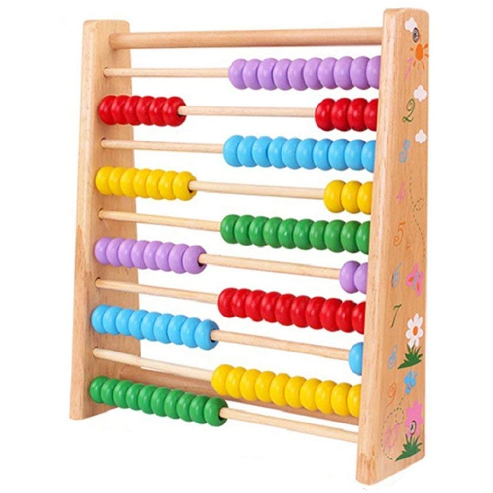 Wooden Abacus For Kids Math Toys, Wood Learning Abacus Numbers Counting Games With 100 Beads, Classic Montesorri Toddler Toys Puzzle Preschool Educational Toy For Children Tous