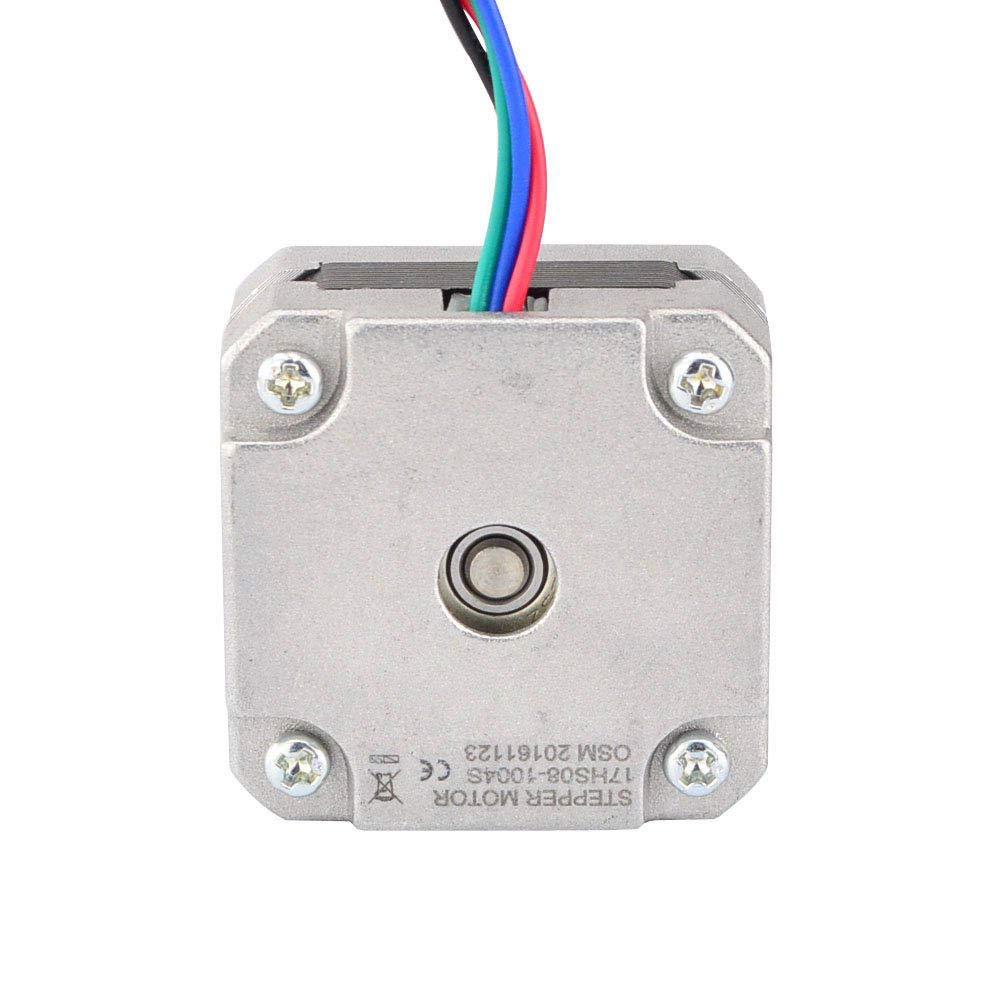 18.4Oz.In 42 Motor Nema17 Paso a Paso para Impresora 3D Diy Cnc Xyz SODIAL 17Hs08-1004S Motor Paso a Paso Nema 17 de 4 Conductores 20Mm 1A 13Ncm