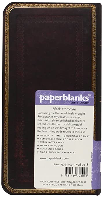 Amazon.com : Black Moroccan - Paperblanks 2015 Weekly ...