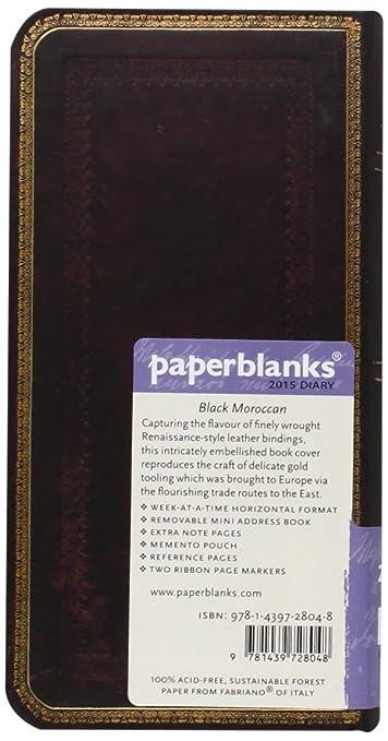Amazon.com : Black Moroccan - Paperblanks 2015 Weekly ...