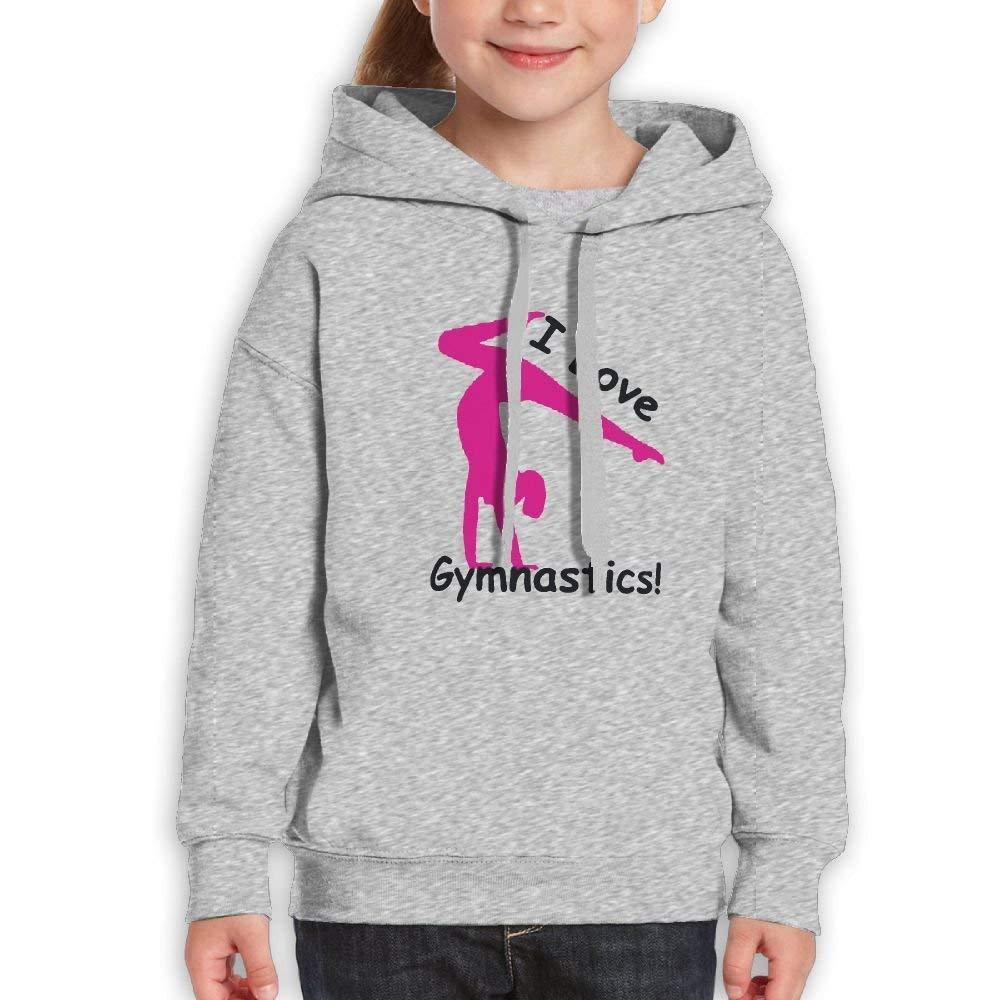 I Love Gymnastics Teenager Cotton Pullover Hood Hoodie Sweatshirt