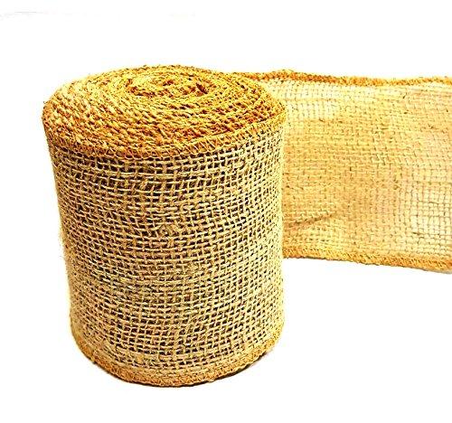 AAYU Brand Premium Burlap| 2 1/2 inch Ribbon | 2.5 inch x 10 Yards | 7oz Fabric | 100% Natural Burlap Mesh Ribbon, Burlap Wreath Ribbon, Wreath Making Burlap | Eco-Friendly, Natural Product