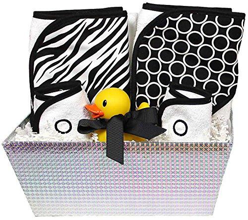 Wild One Zebra Black (Raindrops Wild About Prints Hooded Towel Set, Black Zebra)