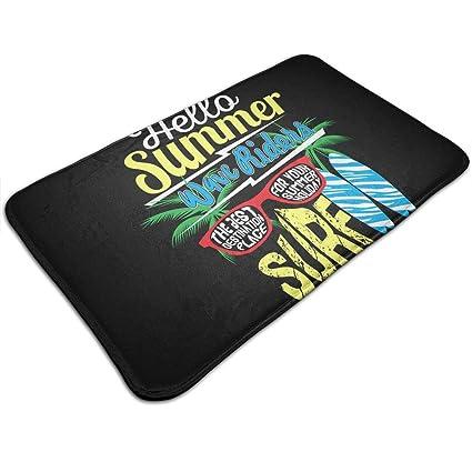 9902c62e8 Gbagame8 Hello Summer Surfing Typographic Kids T Shirt Vect Funny Text  Doormat Floor Mat Rug Indoor