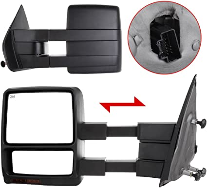 Towing Manual Side Mirrors Left+Right Pair For 2004 2005 2006 Ford F150 Pickup