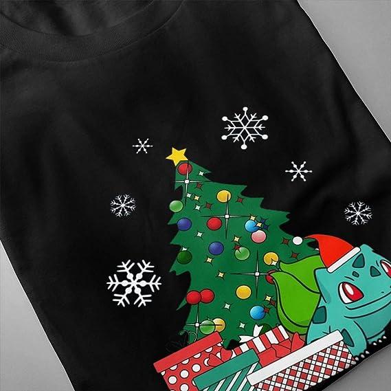 Bulbasaur Around The Christmas Tree Men/'s T-Shirt