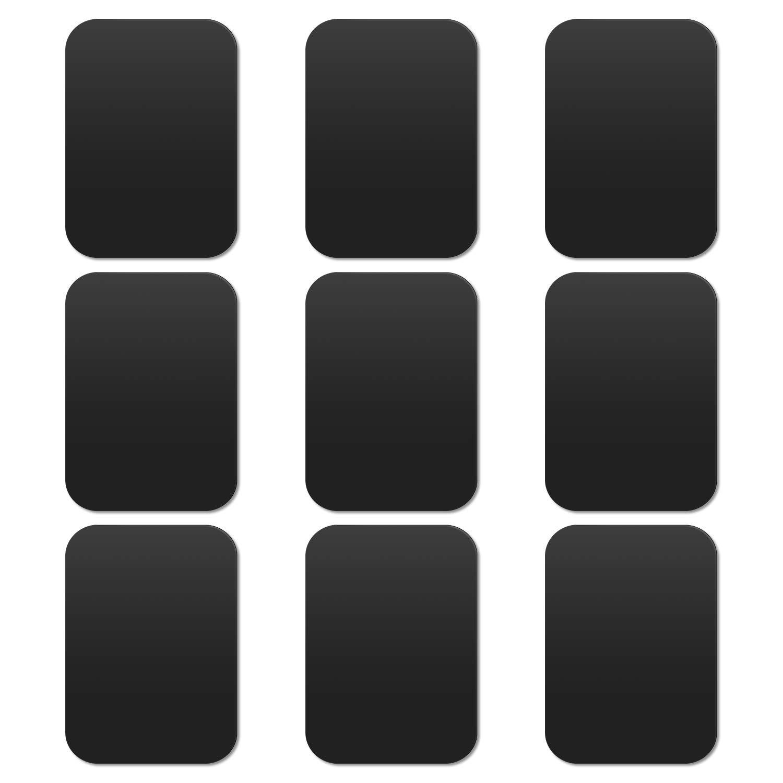 Metallplatte Metallpl/ättchen Selbstklebend Ersatzplatten 4 Runden und 4 Rechteckig mit 3M Klebefolie f/ür Magnet KFZ Handyhalterung kompatibel mit Handy und Tablet SKYEE Silber 8 St/ück