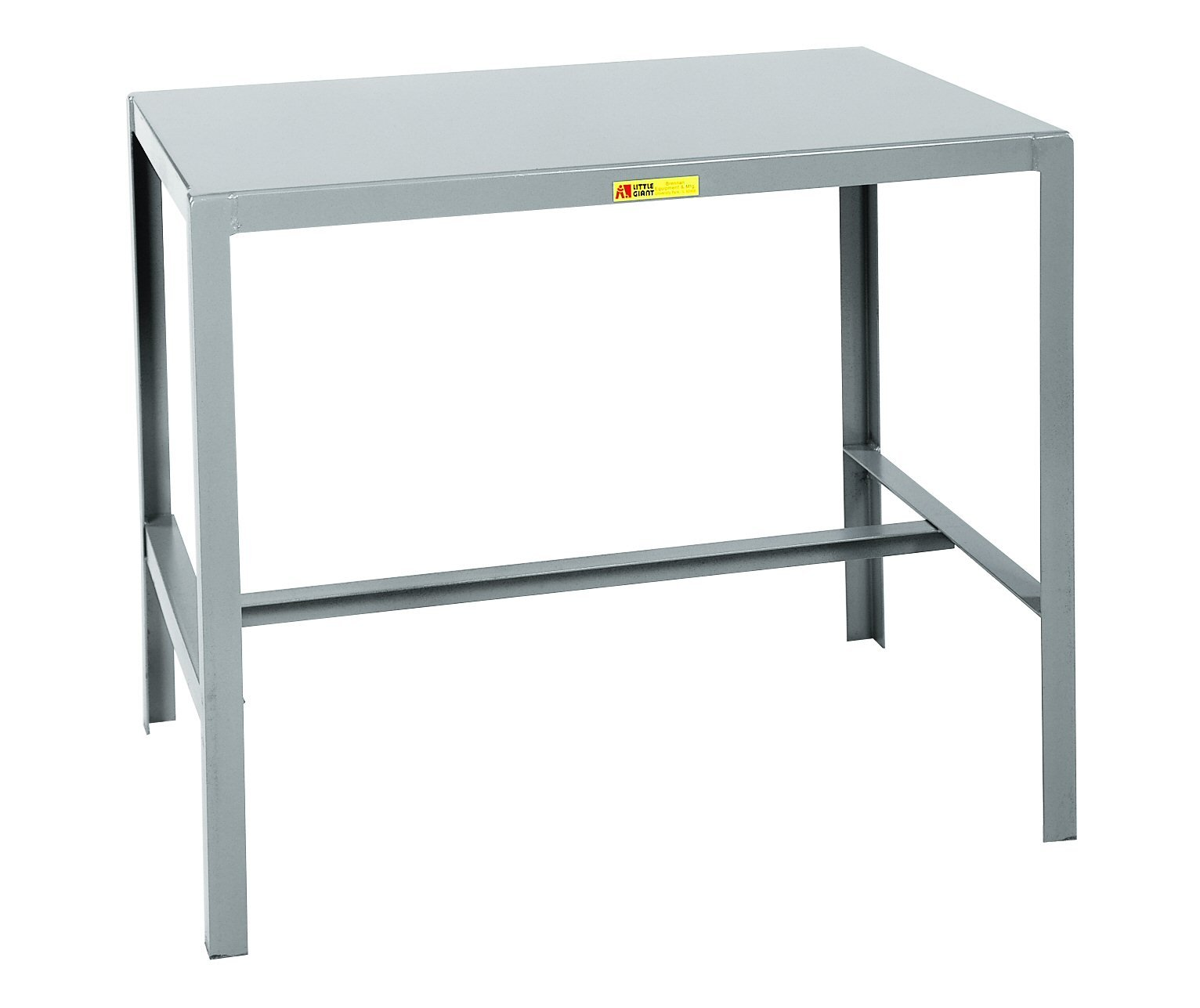 Little Giant MT1-1824-24 Steel Top Machine Table, 18'' D x 24'' W x 24'' H, Gray