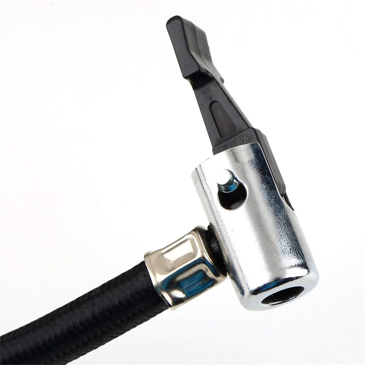 MXECO Nero Portatile Versatile 12V 300PSI Pompa per gonfiaggio pneumatici per auto Mini Pompa per compressore compatta Gonfiatore per pneumatici per pneumatici per auto