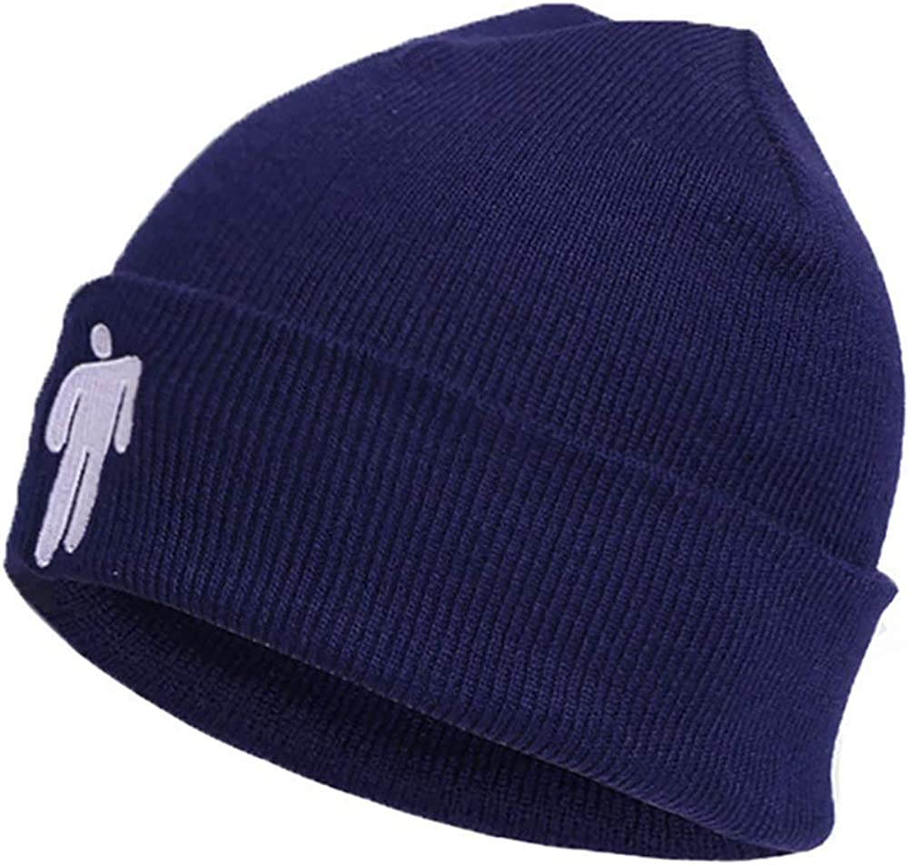 Funmazit Fashion Winter Beanie Hat Cotton Embroidered Hip Hop Warm Knitted Hat Skull Cap Unisex Stretchy Cap