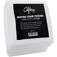 Premium Foam Packing Sheets (50 Count, 7 3/8 x 7 1/2 inches) Cushion Foam Wrap Sheets, Moving Supplies for Dishes, Glasses and Furniture, Packing Cushioning Supplies, Soft and Durable Packing Sheets