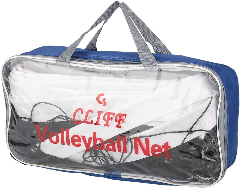 1M Foldable Standard Size Indoor Outdoor Volleyball Net with Storage Bag for Beach Game Indoor Match Dilwe Volleyball Net 8.4M