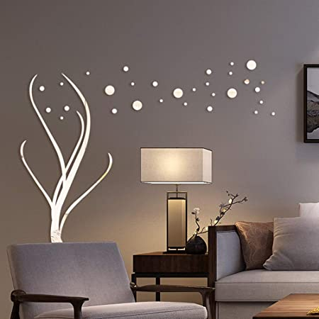 3D Mirror Flower Art Removable Wall Sticker Acrylic Mural Decal Home We AXW