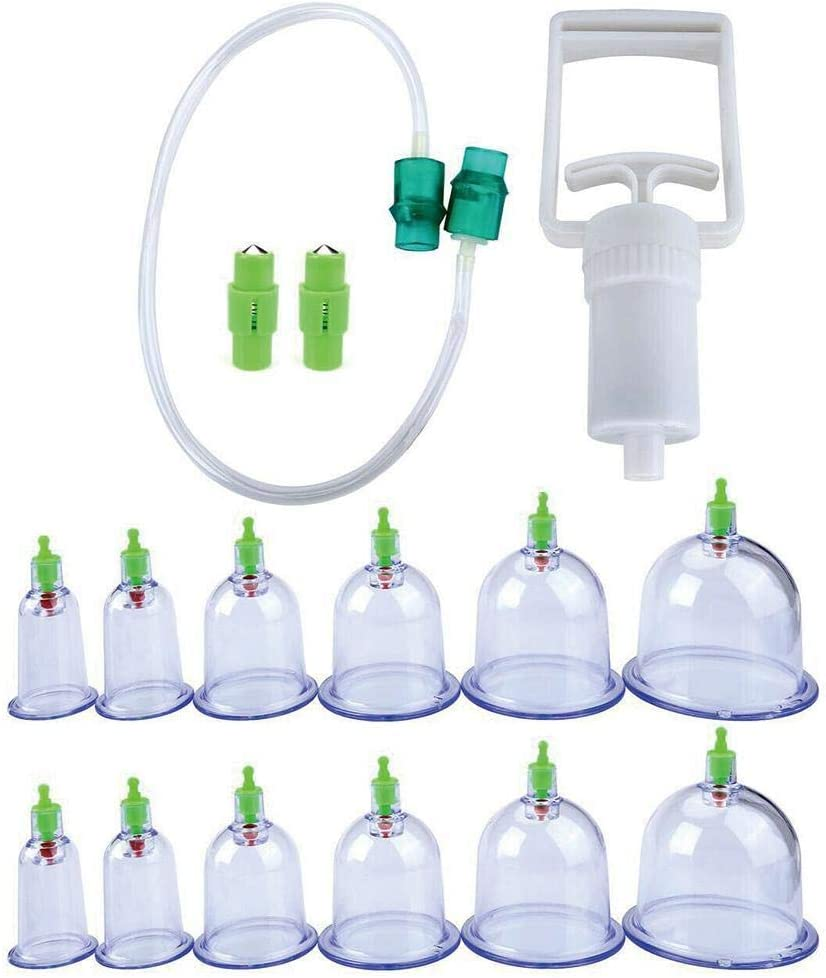 12 Cupping Therapy Cups Effective Healthy Chinese Medical Vacuum Cupping Suction Therapy Device Body Massager Set in Massage & Relaxati for Health Care