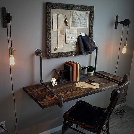 Mesa Escritorio de la Computadora Montado en la Pared Retro ...