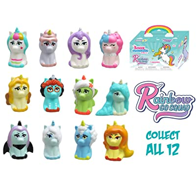 Kawaii Squeezies Rainbow Go Squad Unicorn Squishies: Toys & Games