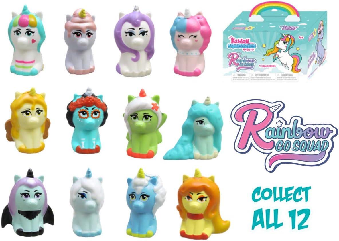Kawaii Squeezies Rainbow Go Squad Unicornio Squishies: Amazon.es ...