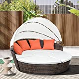 Best Outdoor Daybeds - Leisure Zone Outdoor Patio Backyard Poolside Furniture Wicker Review