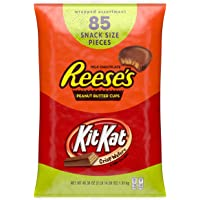 85-Count Hershey's Reese's and Kit Kat Christmas Chocolate Candy Gift Bags