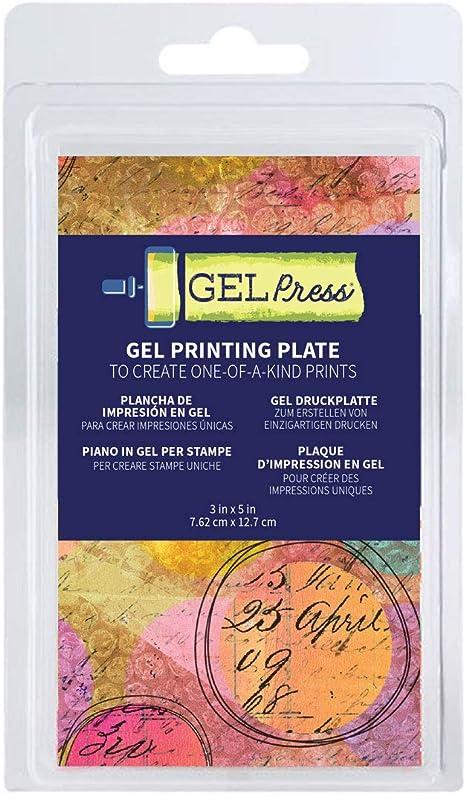 18 x 18 cm Gel Press Placa en Relieve