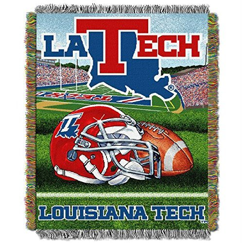 Northwest COL 051 HFA Louisiana Tech Bulldogs NCAA Woven Tapestry Throw (Home Field Advantage) (48x60) NOR-1COL051010134RET