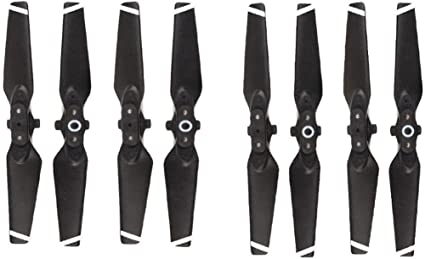 White RC GearPro Release Colored 4 Pieces Foldable CW CCW Propeller Compatible for DJI Spark Drone Foldable Blades Props Kit