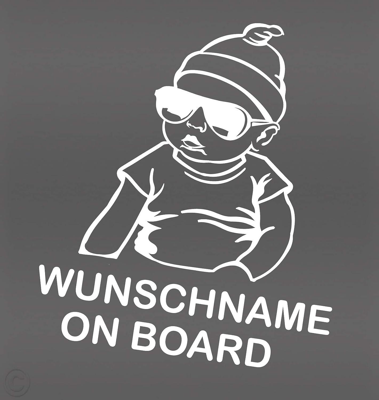 Topdesignshop Babyaufkleber Mit Wunschname On Board Aufkleber Fürs Auto Kinder Baby Sticker Auto