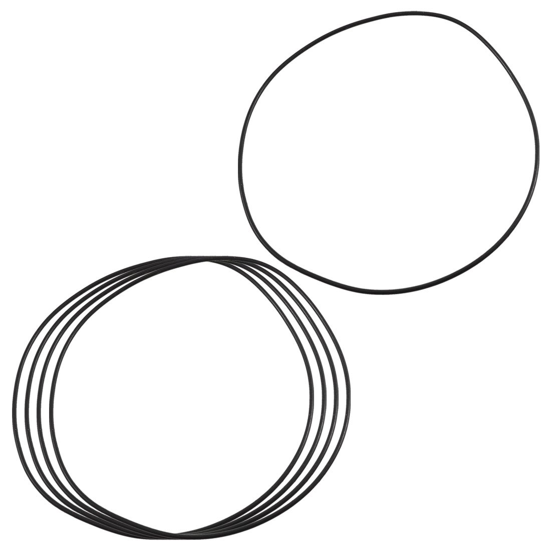 sourcingmap® 5 Pcs Black Rubber Oil Seal O Ring Gasket Washers 100mm x 97mm x 1.5mm a12100800ux1089