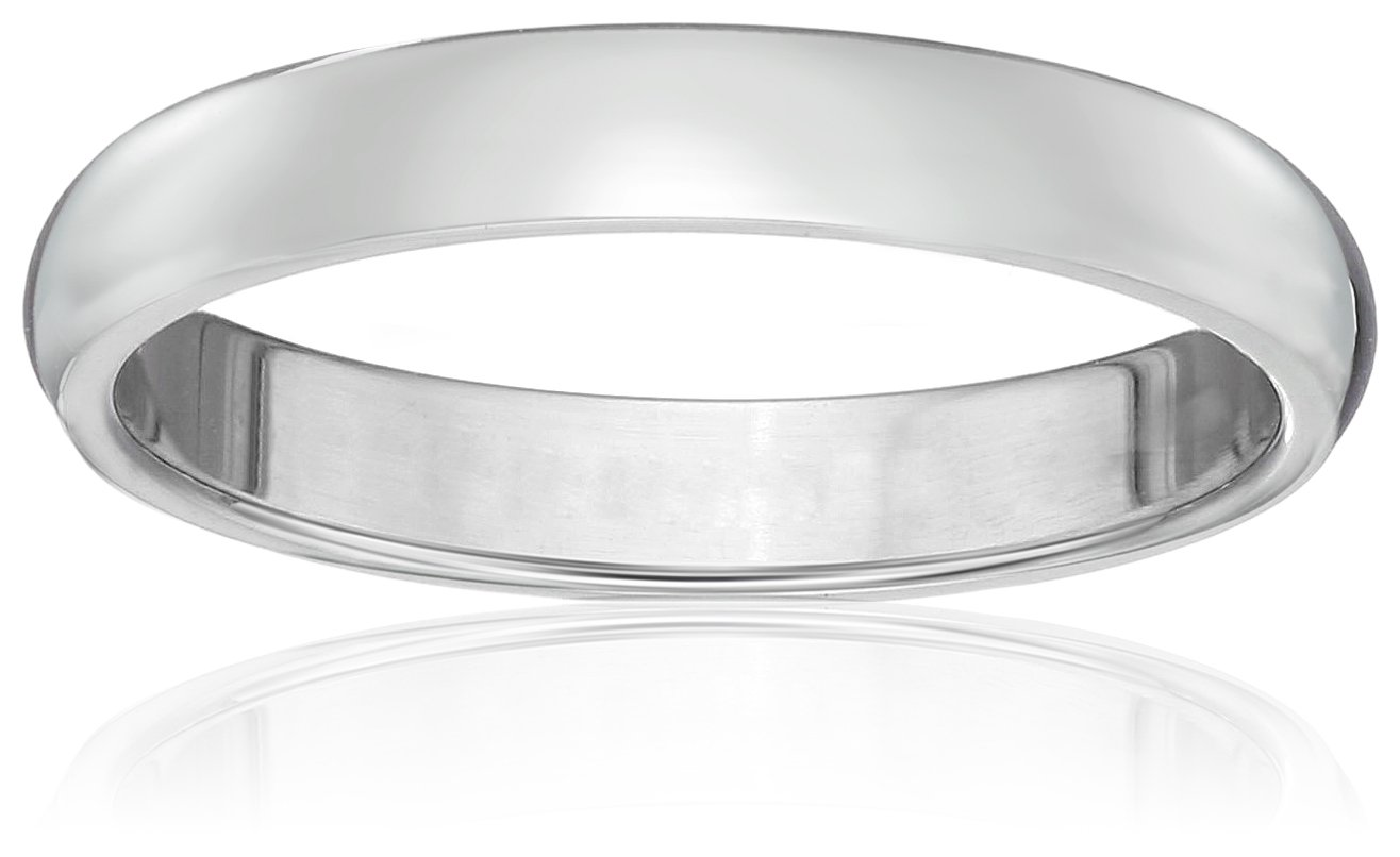 Classic Fit Platinum Band, 3mm, Size 5.5 by Amazon Collection