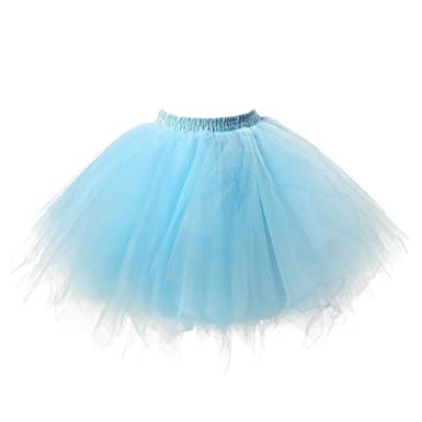 6ec774ad0d5f Omela Damen Minirock Tüllrock Kurz Ballettrock Unterrock Tutu Röcke   Amazon.de  Bekleidung