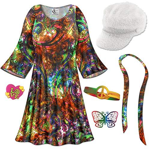 Paisley Gogo Dancer Plus Size Halloween Costume Basic Kit 9x/Micro ()