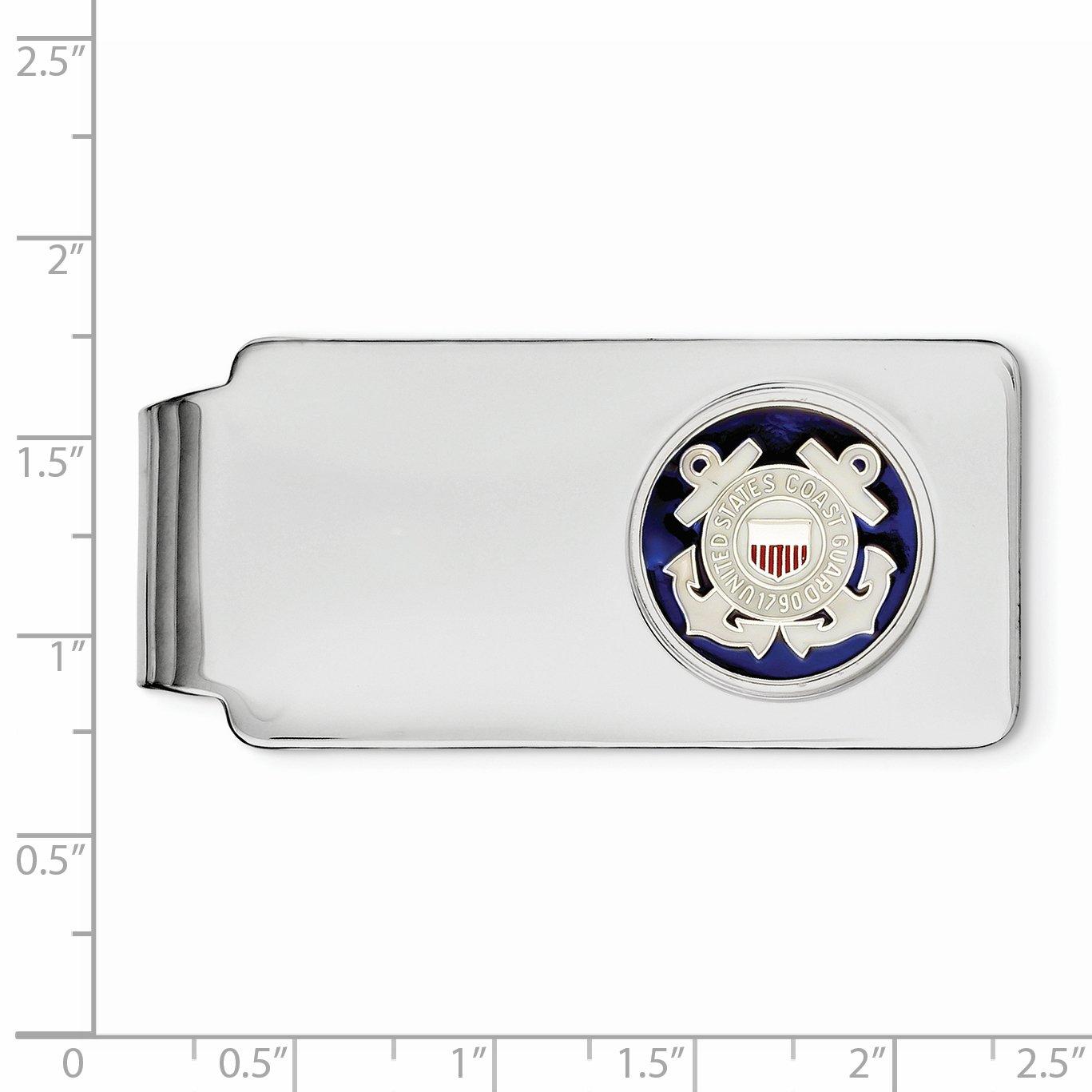925 Sterling Silver U.S Coast Guard Money Clip